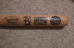 Chicago Cubs Game Day Giveaway Mugs Root Beer & Lincoln Park Zoo Baseball Bat