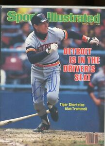 ALAN TRAMMELL DETROIT TIGERS SPORTS ILLUSTRATED signed autographed