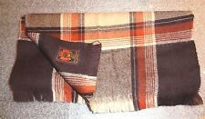 Canada brown plaid wool neck scarf