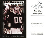 Jim Otto SIGNED AUTOGRAPHED The Pain of Glory Oak Raiders HC 1st Ed 1st Print 00