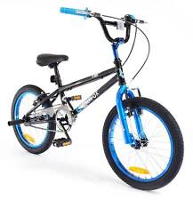 Boys/chidrens Black/blue SilverFox Plank 18inch BMX Freestyle Bike