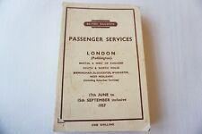More details for june - sept 1957 western region passenger railway timetable