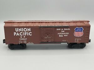 WILLIAMS #32 UNION PACIFIC SHIP & TRAVEL THE AUTOMATED RAIL WAY BOXCAR