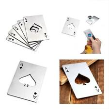 Bottle Opener Size Casino Credit Card Stainless Steel Wallet Soda Beer 5 Pcs