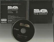 B.G. w/ Big Tymers X & Henne RADIO EDIT & INSTRUMENTAL PROMO DJ CD Single bg