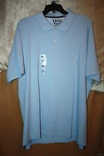 IZOD Heritage 100% Cotton Polo Golf Shirt Size M Short Sleeve Powder Blue NEW