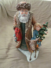 "Duncan Royale 12"" Santa Claus Bavarian Figurine w/Original Box & Packaging Euc"