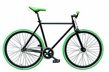 "WOO HOO BIKES - GREEN 19"" - Fixed Gear Bicycle, Fixie, One Gear, Track Bike"