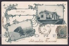 BRASILE PORTO ALEGRE 02 Brasil STAZIONE PONTE VEDUTINE Cartolina viag primi '900