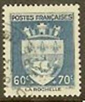 """FRANCE TIMBRE STAMP N° 554 """" ARMOIRIES DE LA ROCHELLE 60c+70c """" OBLITERE TB"""