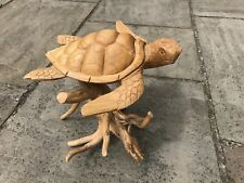 More details for balinese wood carving large turtle