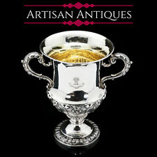 A Magnificent Solid Silver Georgian Two Handled Cup / Trophy - Barnard 1829