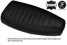 DESIGN 3 BLACK STITCH CUSTOM FITS PIAGGIO VESPA PX 125 DUAL LEATHER SEAT COVER