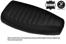 DESIGN 3 BLACK STITCH CUSTOM FITS PIAGGIO VESPA PX 125 DUAL LEATHER SEAT COVER