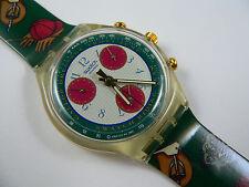 1993 Swiss Swatch Watch Chronograph Riding Star SCK102  New