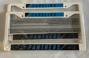 2 Carolina Panthers License Plate Frame Auto Truck NEW - FREE USA SHIPPING