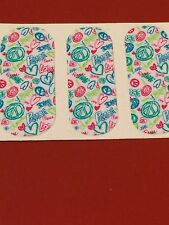Jamberry Half Sheet - Peace Signs - Retired on Classic - VHTF