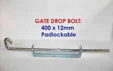 Gate Drop Bolt 400 x 12 (Padlockable)
