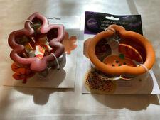 New listing Wilton Comfort Grip Pumpkin and Oak Leaf & Metal Cookie Cutters