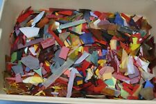 Lot G 15+ Pounds Scrap Stained Glass Mix Largeto Medium Sized Pieces Mosaic hr