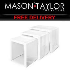 Mason Taylor Set of 3 Nesting Tables - White FURNI-GLOSS-NEST3