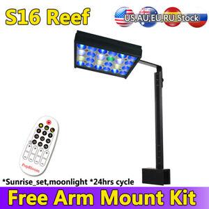 Shannon16 LED Aquarium Lighting Nano Fish Tank Light Saltwater Coral Lamp 30W