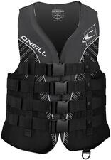 ONeill Mens Superlite USCG Life Vest ,Black/Black/Smoke/White,Medium