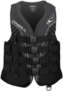 ONeill Mens Superlite USCG Life Vest ,Black/Black/Smoke/White,Medium