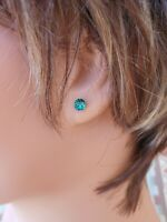 HYPOALLERGENIC Earrings  Swarovski Elements Crystal Earrings  Emerald Green May