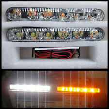 LED DRL Daytime Running Lights + Turn Signal Indicators - UNIVERSAL  2x6W 17cm
