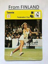 CHRIS EVERT 1980 FINNISH Sportscaster card #111-2642 Tennis - From Finland
