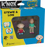 """FAMILY GUY K'NEX STEWIE & LOIS 2"""" DUAL FIGURE PACK BRAND NEW GREAT GIFT"""