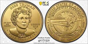 2015-W Bess Truman $10 Gold 1/2 oz First Spouse Coin MS70 pop 418