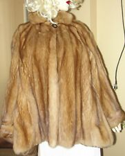 Beautiful Golden Sable Fur Swing Jacket Coat *Fits Med - 2-X