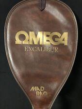 Vtg 1970s Omega Mad Raq Excalibur Aluminum Racquet in case. Good condition. Nice