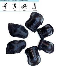 Kids 6Pcs Sport Skating Protective Gear Set Safety Pad (Knee Elbow Wrist) Black