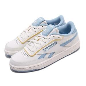 Reebok Club C Revenge Chalk Fluid Blue Yellow Women Classic Casual Shoes EF7901