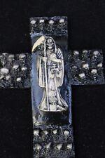 #29 CRUCIFIX SANTA MUERTE WHITE STATUE holy death RITUALIZADA crucifijo item
