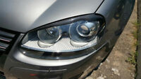 Carbon Fiber Front Headlight Eyelids Eyebrows for VW Golf 5 V MK5 Jett GTI 03-08