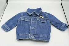 DISNEY BABY Size 0-3 Months Mickey Mouse Blue Denim Jean Jacket Embroidered