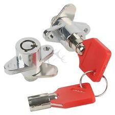 Red Hard Saddle Bag Locks + Keys Fits Harley Davidson Touring FL Models 1993-UP