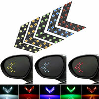2 Pcs Sequential 14 LEDs Arrow Car Rear View Mirror Turn Signal Indicator Lights