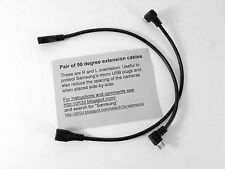 Pair of 90 degree extension Cables for Samsung NX cameras, for remote stereo etc