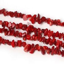 50 chips chispas de coral rojo para hacer manualidades 4mm 6mm
