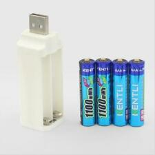 4pcs 1.5V 1180mWh Kentli Lithium Rechargeable AAA LiPo Batteries + USB charger