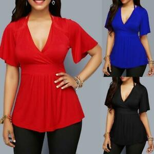 Blusas De Mujer Camisas Moda Blusa Elegante Casual Manga Corta Nueva Camisa Tops