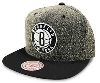 Brooklyn Nets Cap NBA Mitchell & Ness Static Grey Snapback Cap - New - One size