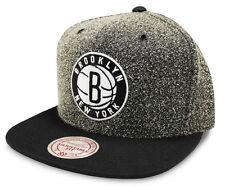 Brooklyn Nets Gorra de la NBA Mitchell & Ness estática Gris Snapback Cap-nuevo-Talla