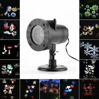 12 Patterns Christmas Laser Snowflake Projector Outdoor LED Waterproof