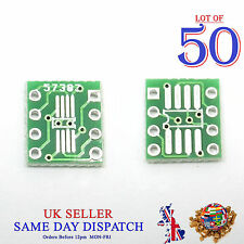 50x PCB SO MSOP TSSOP SIO6 SOP8 to DIP-8 1.27 / 0.65mm Adapter SMD Converter